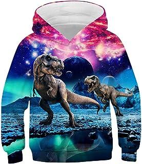 7 Jahre Baby Jungen Sweatshirts mit 3D-Dinosaurier Herbst Winter Langarm Schlaufen-Top Jungen M/ädchen Shirts Baumwolle Kinderkleidung 2