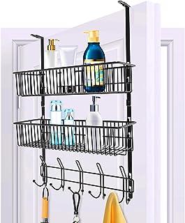 Crochet de porte sur la porte 10 crochets de suspension pour organisateur d'étagère avec 2 supports de rangement pour pani...
