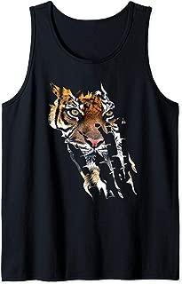 Bengal Tiger Face Wild Cat Paws African Safari Tank Top