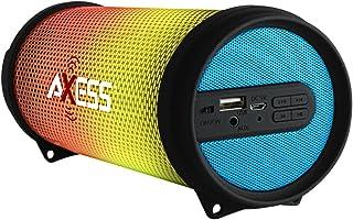 AXESS SPBL1043 Mini Portable Bluetooth Hi-Fi Bluetooth Speaker with Dancing LED Lights, Blue