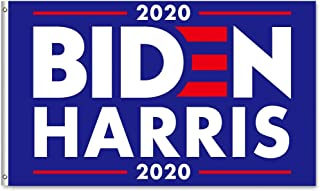 WENWELL Joe Biden Kamala Harris Flag for President 2020 Election,Vivid Color and UV Fade Resistant with Grommets Double Stitched,Outdoor and Indoor Decor (3x5 Feet)