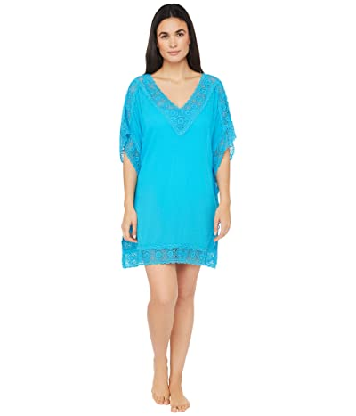 La Blanca Island Fare Short Sleeve Tunic Cover-Up (Poolside) Women