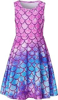 لباس های آستین گلدار دخترانه Ahegao لباس های یک پارچه بچه گانه برای مدرسه گاه به گاه 4-13 ساله