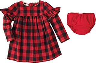 Baby Girl's Buffalo Check Long Sleeve Dress (Toddler) Red 3T (Toddler)