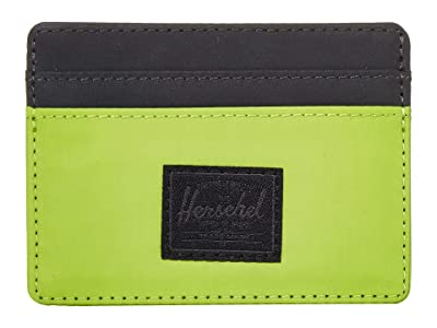 Herschel Supply Co. Charlie RFID (Lime Green/Black Reflective) Wallet Handbags