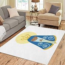 qinzuisp Carpet Nuestra Señora De Aparecida Es Nossa Senhora Patrona Moda Alfombra Personalizada Espuma De Memoria Decoración para El Hogar 150X210Cm Alfombra De Piso Área Alfombra Moderna