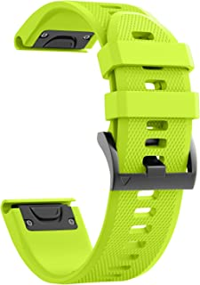 ANCOOL Compatible with Fenix 5X Band Easy Fit 26mm Width Soft Silicone Watch Bands Repalcement for Fenix 5X/Fenix 5X Plus/Fenix 3/Fenix 3HR Smartwatches - Green