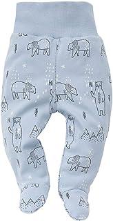 Pinokio Baby - Jungen Strampler Hose / Schlafhose aus der Serie North Eisbär Grau