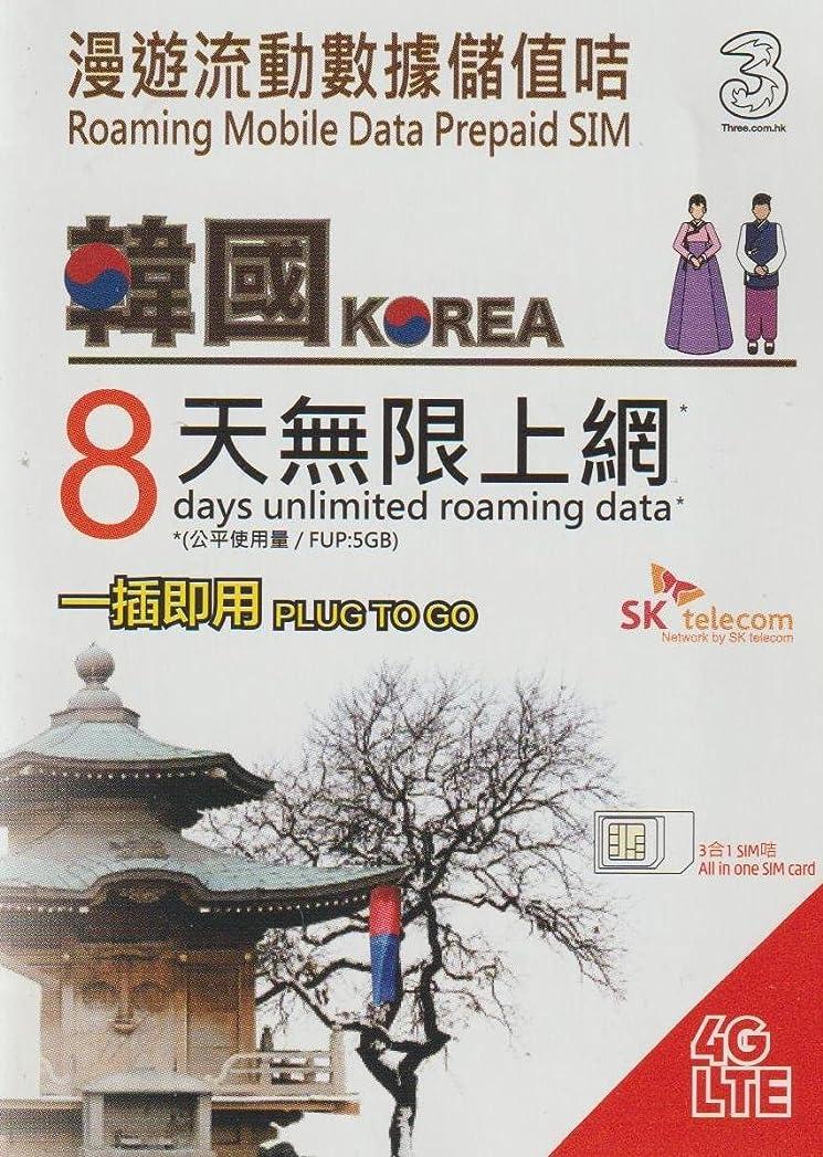 聡明みなさん倫理的[Three] 韓国 4G-LTE(FDD) データ通信 使い放題 プリペイドSIMカード 8日間 PLUG TO GO[並行輸入品]