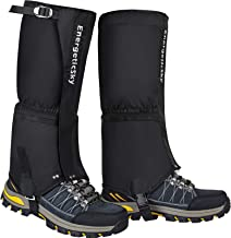 EnergeticSky Leg Gaiters Waterproof Snow Boot Gaiters for Men and Women,Gaiters for Hiking,Snowshoeing,Hunting,Climbing,Ru...