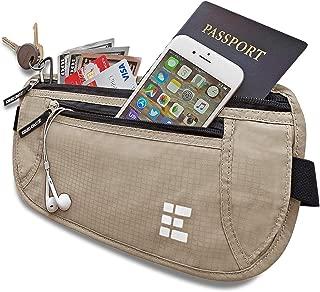 Money Belt w/RFID Blocking - Concealed Travel Wallet & Passport Holder
