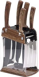 San Ignacio Set 6pc cuchillos MONCAYO acero inoxidable, Marrón