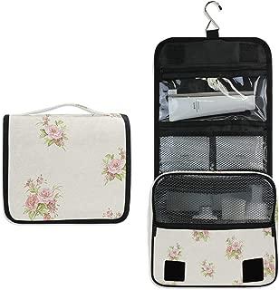 Vintage Floral Toiletry Bag Multifunction Cosmetic Bag Portable Makeup Pouch Waterproof Travel Hanging Organizer Bag for Women Men Girls