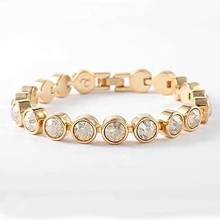 Touchstone Crystal by Swarovski Golden Ice Gold Bracelet
