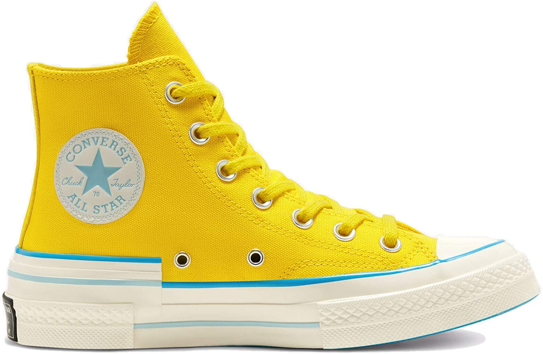 Converse Women's Popped Color Chuck 70 Hi Speed Yellow/Sail Blue/Egret 568801C
