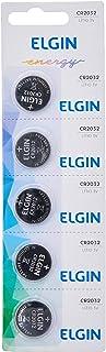 Bateria de litio CR2032 cartela com 5 unidades 3v Elgin, Elgin, Baterias