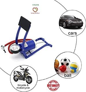 Balls and Other Inflatables Foot Pump SENRISE Cylinder Air Inflator Single Barrel Portable Floor Pump for Bicycles Cars Motorcycles