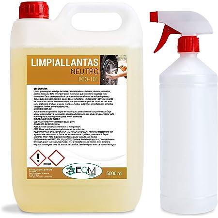 Ecosoluciones Químicas ECO-101   5 litros   Limpia Llantas Profesional Neutro   Elimina Suciedad sin Esfuerzo   Incluye PULVERIZADOR
