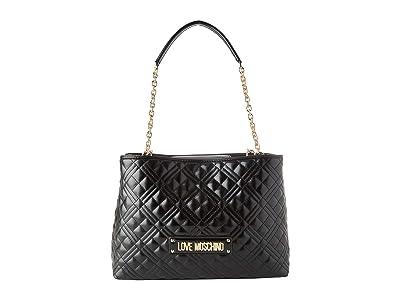 LOVE Moschino Quilted Handbag (Black) Handbags