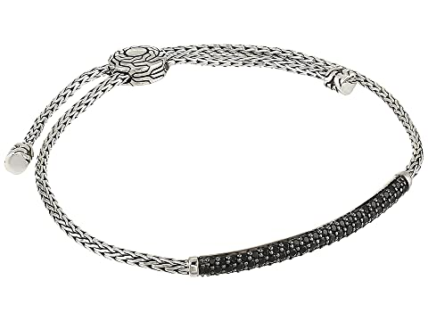 John Hardy Classic Chain 2.5 mm. Mini Chain Pull Through Bracelet with Black Sapphire and Black Spinel