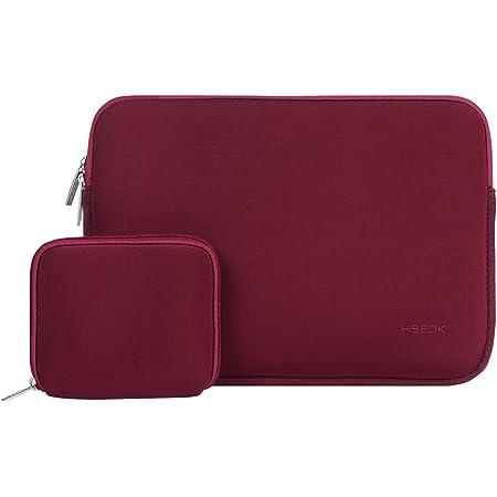 """HSEOK Housse pour MacBook Air 13"""" & 14"""" Dell/Ausu/Acer/HP/Toshiba/Lenovo, Pochette Mac Waterproof & Legere, [Dimension Intérieure:34,5 x 24,5 cm]-Vin Rouge"""