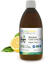 On Target Living Alaskan Cod Liver Oil Organic Lemon Flavor 16.67 oz   Made in The USA   Rich in Omega 3 DHA/EPA   Naturally Occurring Vitamin D   Non-GMO Project Certified Fish Oil  