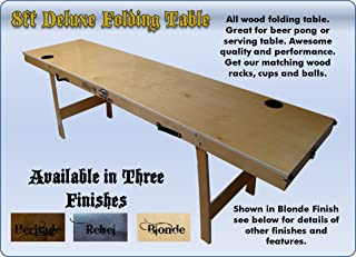 Deluxe Folding Beer Pong Table 8 Feet (Pro Series All-wood)