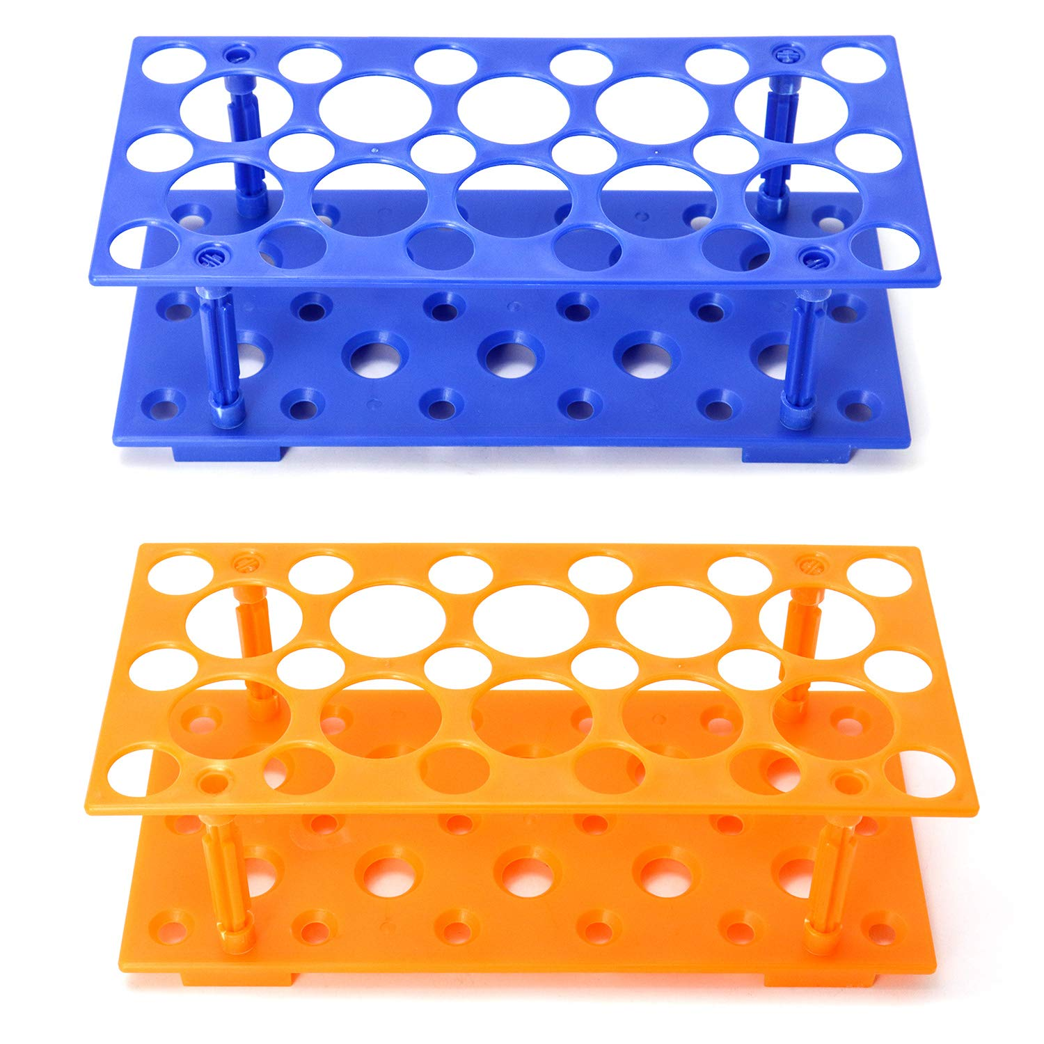 QWORK 2 Pack Plastic Louisville-Jefferson County Mall Test 2021 autumn and winter new Rack Centrifuge Labora Tube