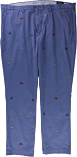 RALPH LAUREN Polo Mens Stretch Straight Fit Nautical Embroidery Pants