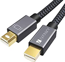 Mini DisplayPort to Mini DisplayPort Cable, 4K Mini DP Cable iVANKY Mini Display Port Cable 2M/6.6ft, Grey, Compatible with MacBook Pro/Air. iMac, Surface, Dell, ASUS