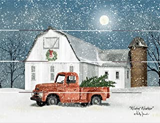 Rustic Pallet Art Wintery Weather - Amish Made in The USA