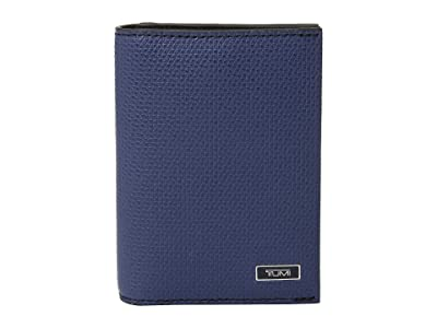 Tumi Monaco Gusseted Card Case (Navy) Bi-fold Wallet