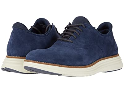 Cole Haan Original Grand Ultra Plain Toe Ox (Vintage Indigo Suede/Ivory) Men