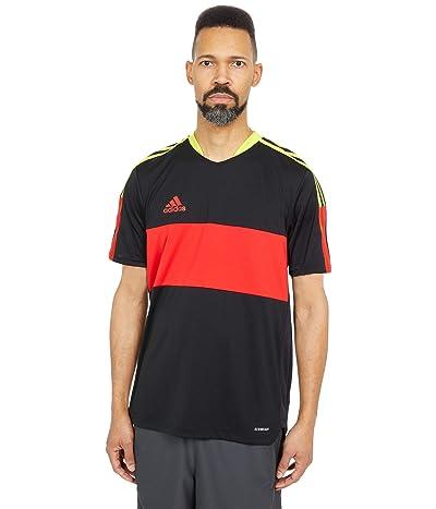 adidas Tiro Jersey (Black/Vivid Red/Acid Yellow) Men