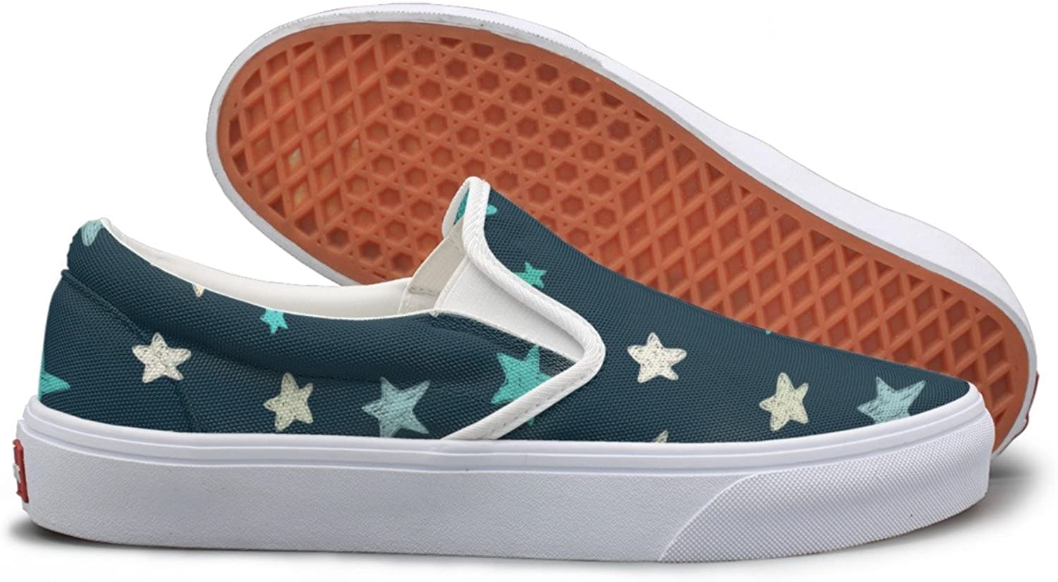 SEERTED What is Doodle Star Slip On Canvas shoes for Women