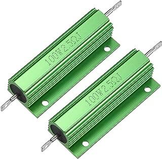 YUNB 2 Pcs LED Remplacement Convertisseur 100W 2.5RJ Bo/îtier en Aluminium R/ésistance 100W Vert 2.5 Ohm Bobin/é