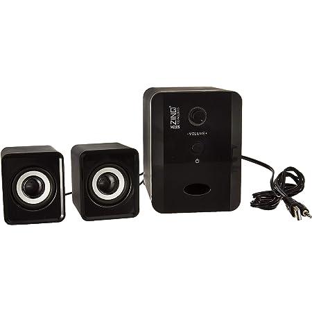 Zinq Technologies MELOS Mini 2.1 Channel Portable Laptop/Desktop USB Powered Multi-Media Speaker with AUX Input (Black)