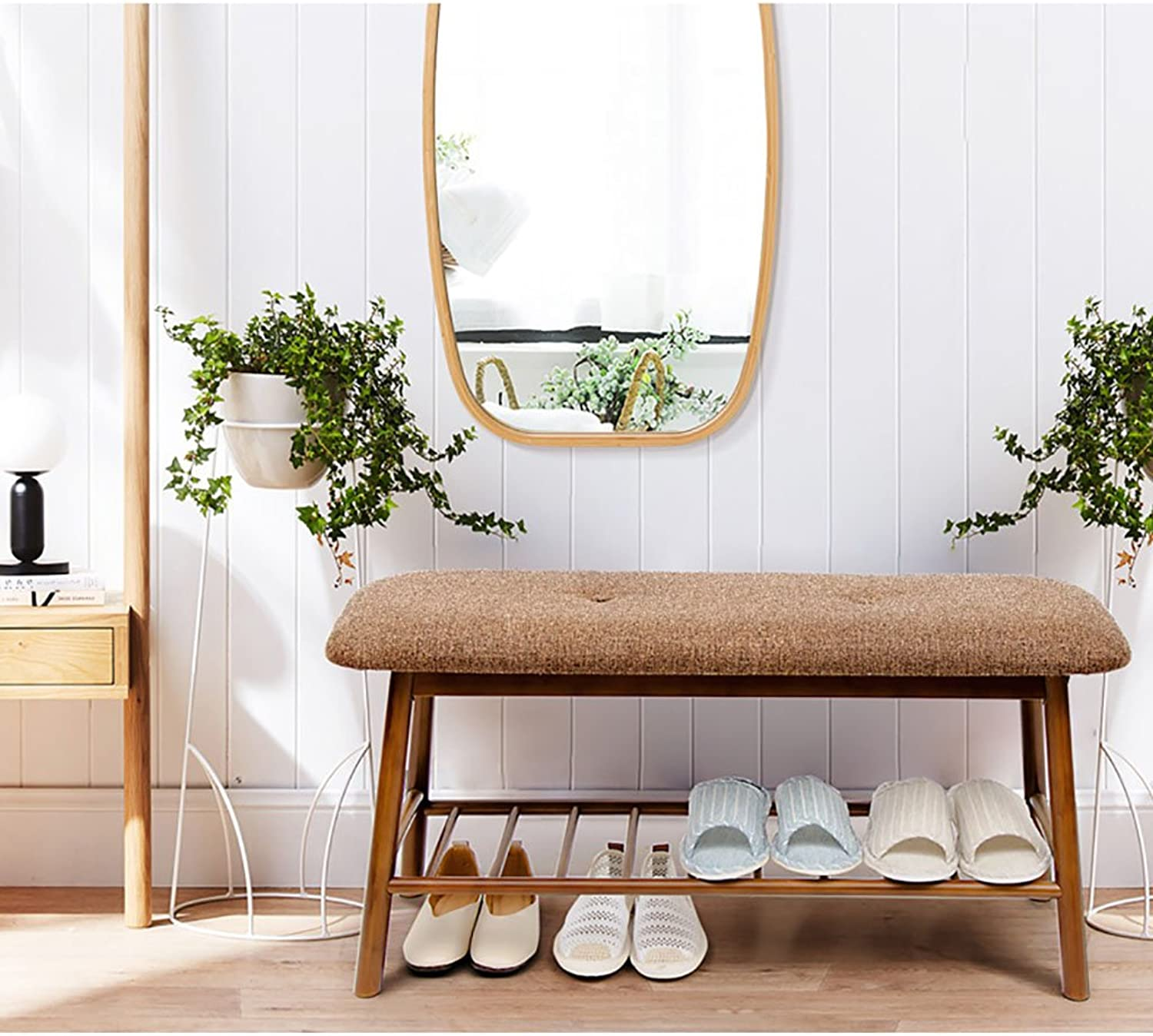 shoes Rack Simple Bamboo Wood,Living Room Assembly shoes Cabinet,Doorway European-Style shoes Bench