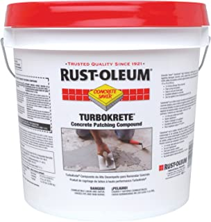 Rust-Oleum 253479 Concrete Saver TurboKrete Concrete Patching Compound, 2-Gallon, Light Gray