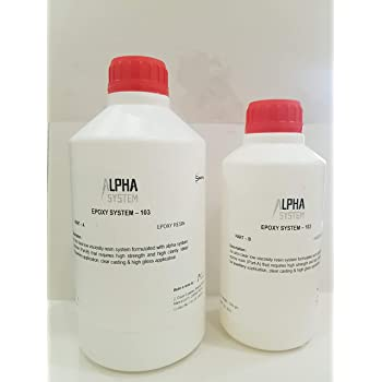 Alpha System 103 Crystal Clear Epoxy Resin Kit 1.5 kg