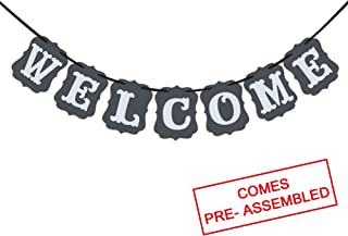 Welcome Vintage Party Banner Wedding Birthday Bunting House Home Classroom Decorations Garland Photo Props Back to School Party Supplies