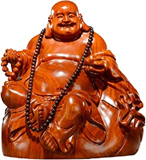 ZLBYB Mahogany Carving Ornaments are Exclusively for Solid Wood Carving Mahogany Crafts Big-Bellied Maitreya Buddha