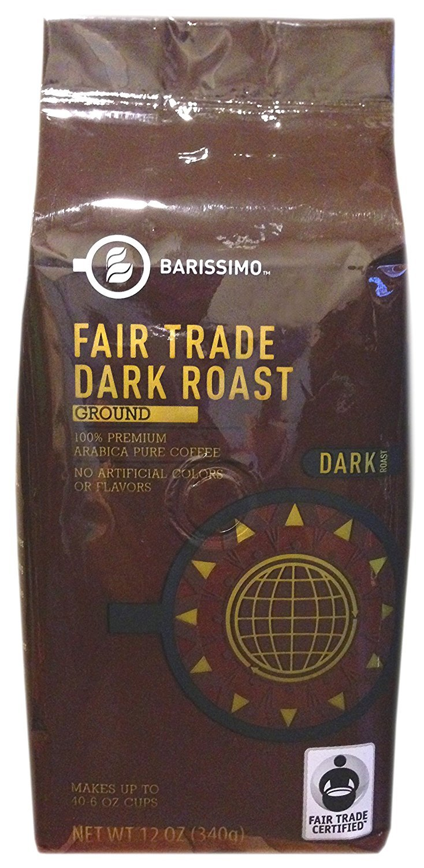 Amazon.com : Barissimo Premium Fair Trade Dark Roast Ground Coffee - 12oz  Bag : Grocery & Gourmet Food