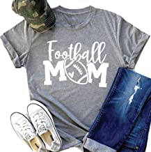 Football Mom Shirts for Women Funny Cute Mom T Shirts Tops with Sayings
