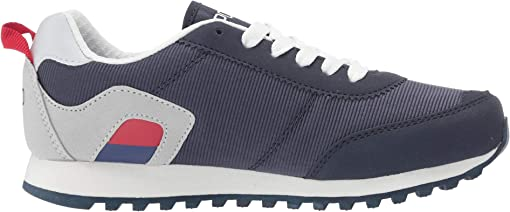 Navy Neoprene/Light Grey Microsuede/Paperwhite Pony