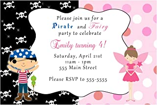 pixie and pirate party invitations