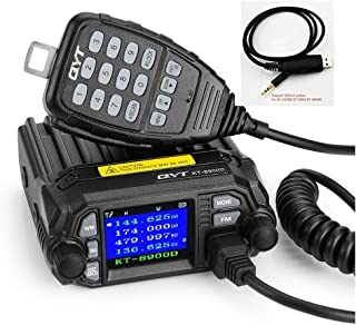 QYT KT-8900D (Upgraded 2nd Gen.) 25W Dual Band Mini Mobile Transceiver Two-Way Radios136~174/400~480MHz Quad Standby Amateur Car Radio