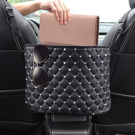 Lyrepie Purse Holder for Car Water cup Documents Car Handbag Holder,Car Back Seat Organizer Large Capacity Artificial Leather Pocket Handbag Holder for Car Storage for Purse Phone