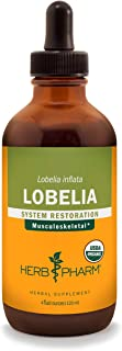 Herb Pharm Certified Organic Lobelia Liquid Extract for Musculoskeletal System Support - 4 Ounce
