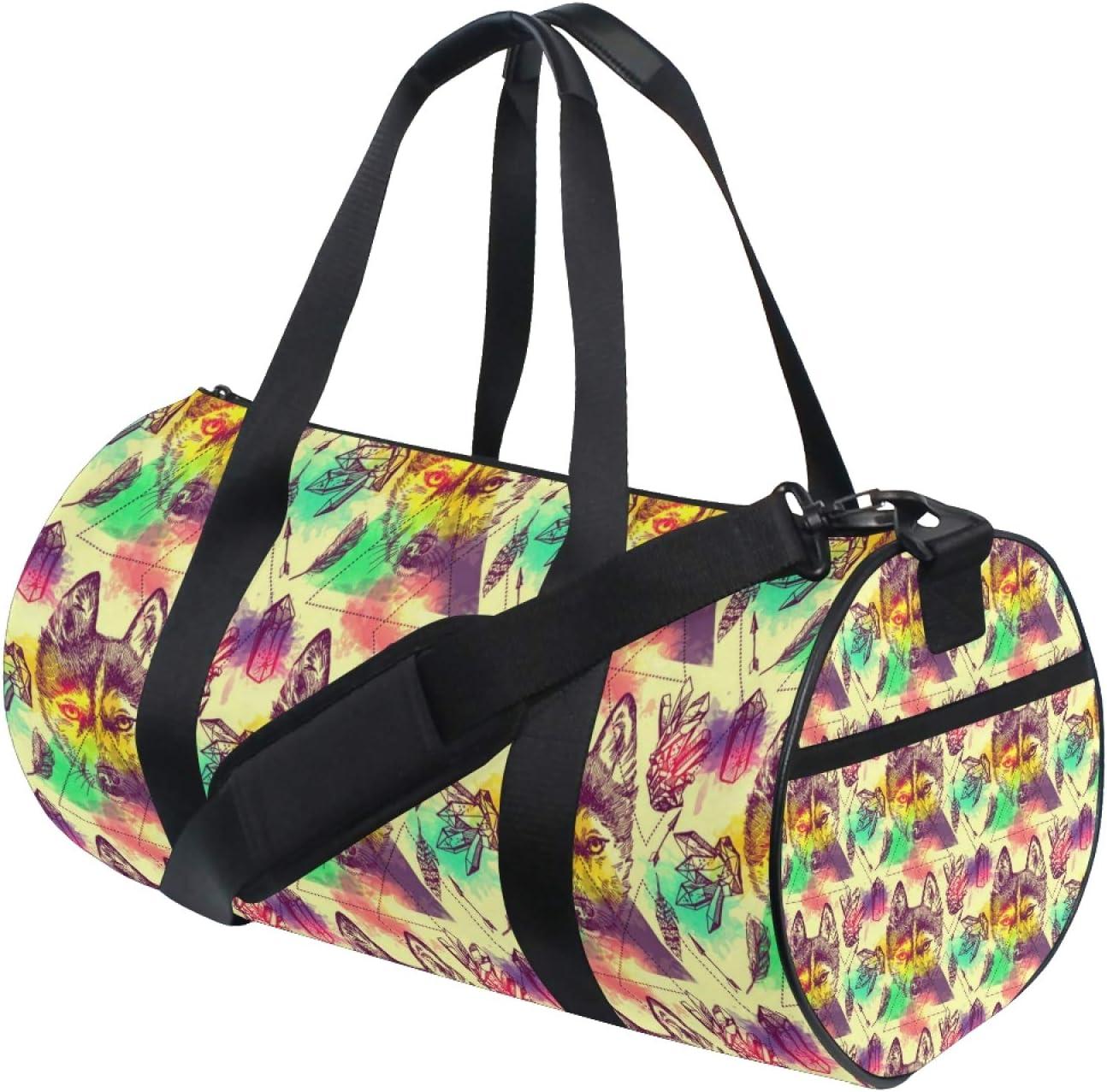 Sports half Gym Duffel Bag Japan Maker New Native Feathers Sport Boho Fo American